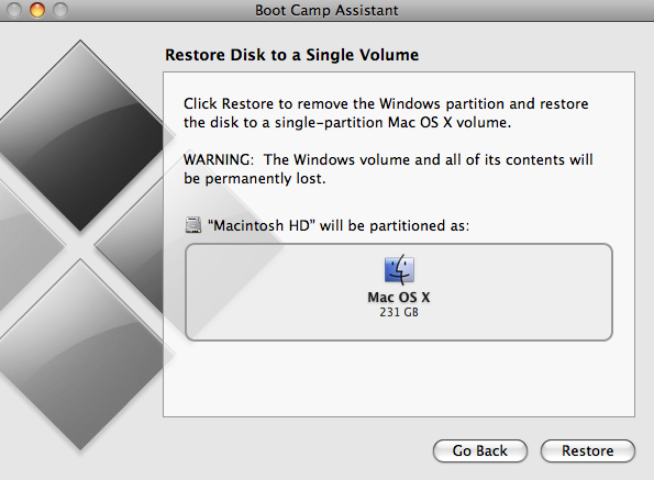screenshot of image assistant | restore disk to single volume