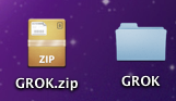 Screen shot of .zip file