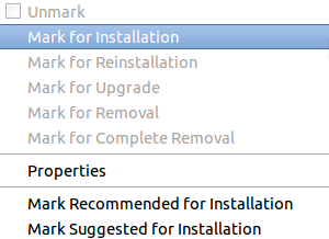 location to right click and select mark for installation