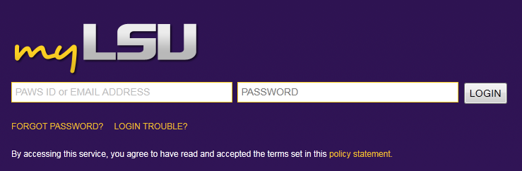 myLSU Log In