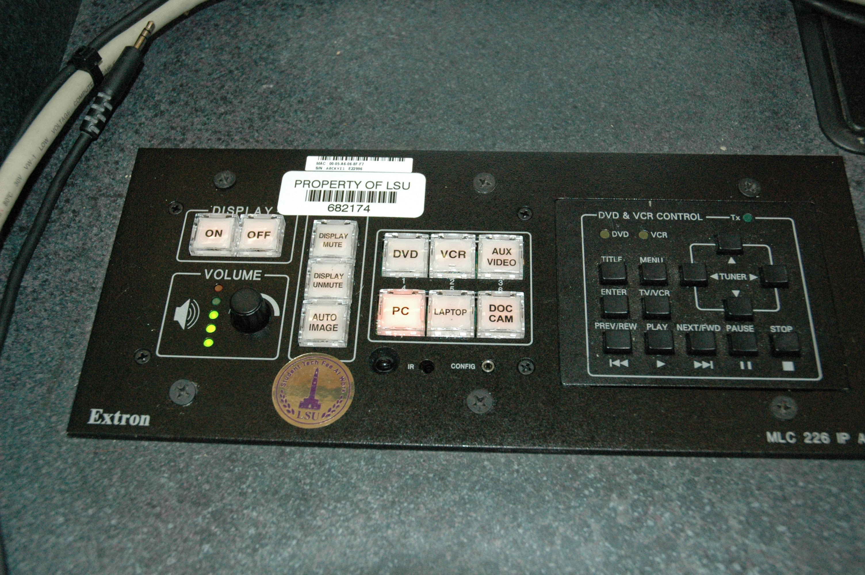 controls on Multimedia Station