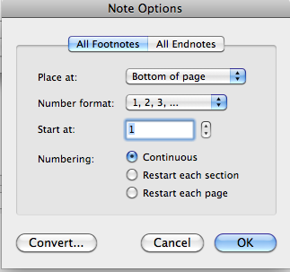 screenshot of note options dialog box.