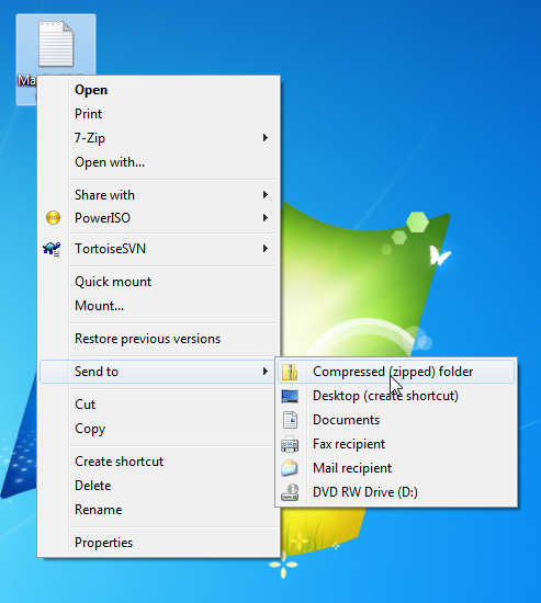 Windows 7 create a zip file grok knowledge base for Window zip file
