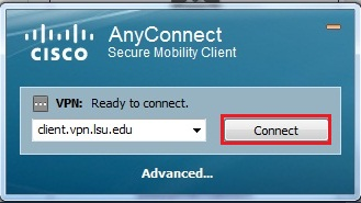 screenshot of client connect page with Connect button highlighted