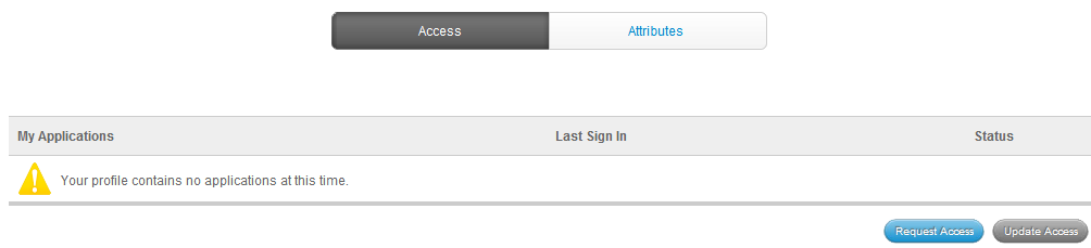 The access tab - request access button highlighted.