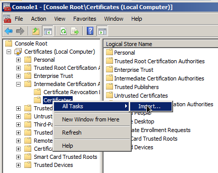 PKI - Import InCommon Intermediate Certificate on Windows Systems ...