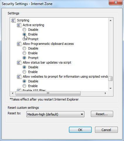 Internet explorer 9 enable javascript grok knowledge base scripting drop down options ccuart Images