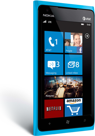 This shows the windows phone