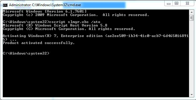 windows 7 activation command line