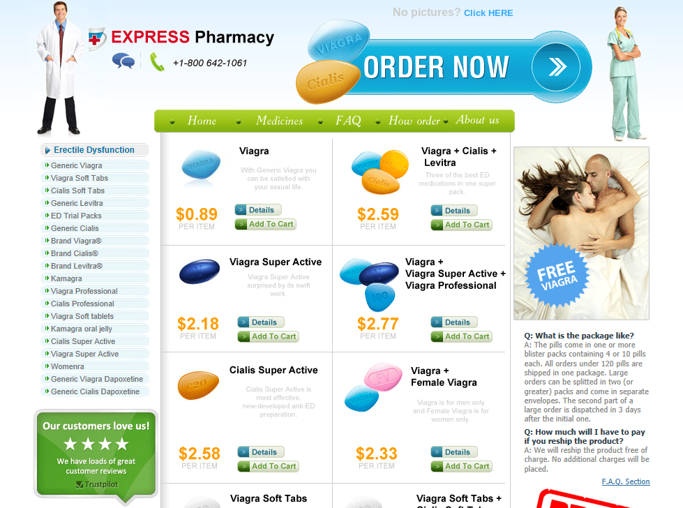 a Fake Pharmaceuticals scam website