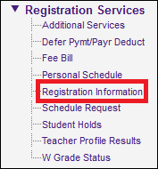 registration information button under registration services on mylsu