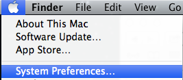 System preferences tab.