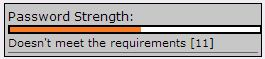 the Option Orange for Password Strength.