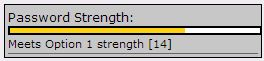 the Option 1 (yellow) for Password Strength.