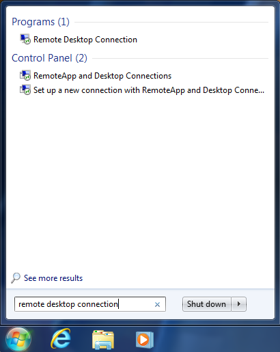 Remote Desktop: Connect to Another Computer (Windows 7