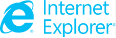 screenshot of the IE logo