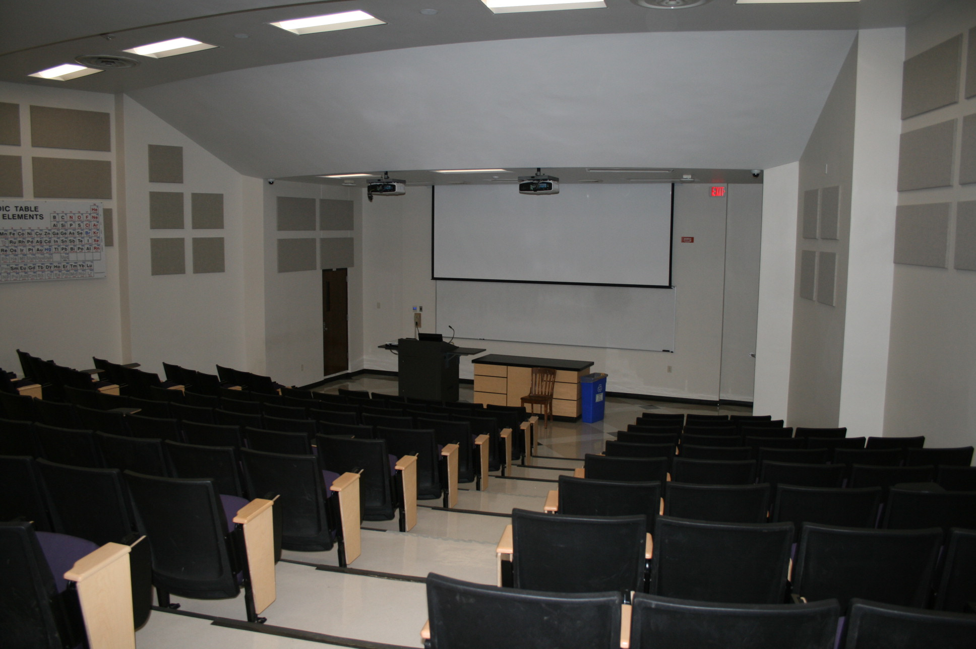Williams 102 from the back of the classroom