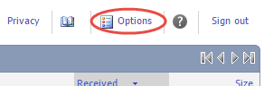refresh option selected under the gear icon dropdown menu.