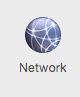 Network button in Yosemite