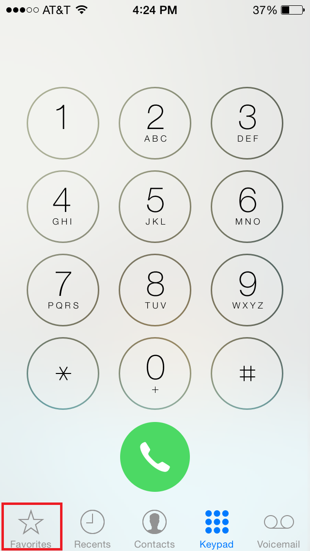 how to put numbers on speed dial on iphone