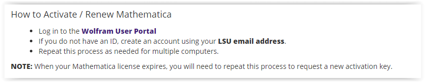 lsu mathematica activation key