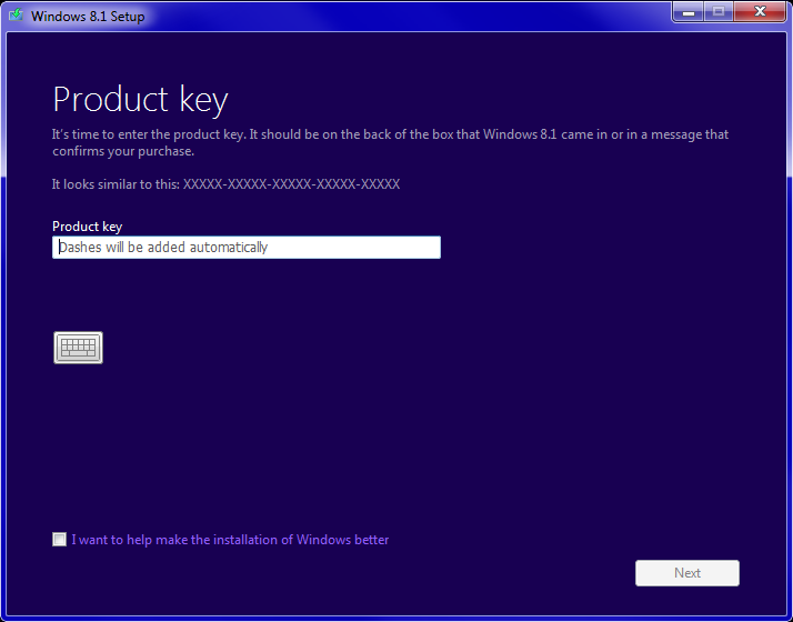 how to enter new product key for windows 8.1