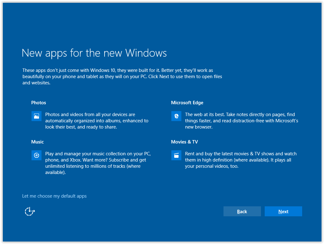 the New apps for the new windows screen