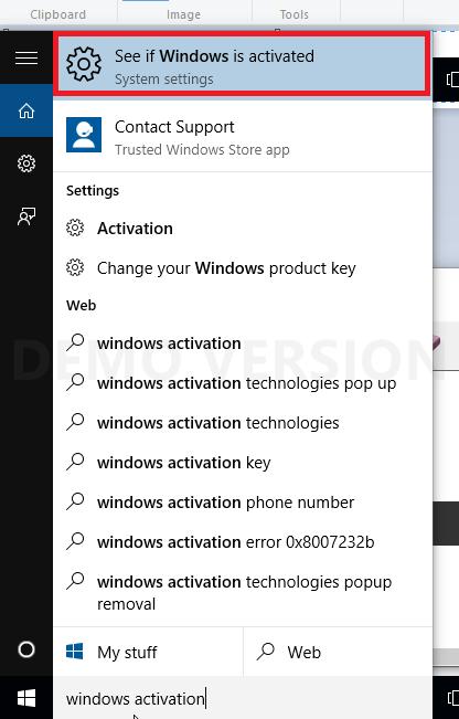 Windows 10 Enterprise: Activation Windows 10 with VPN (Off
