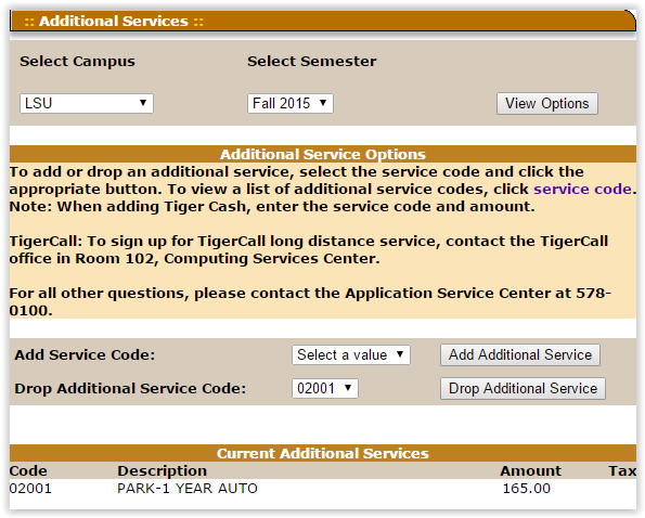 Additional Services page