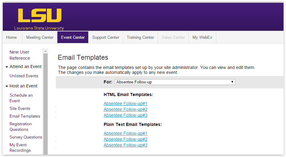 Webex event center locate your email templates grok knowledge base templates screen pronofoot35fo Gallery