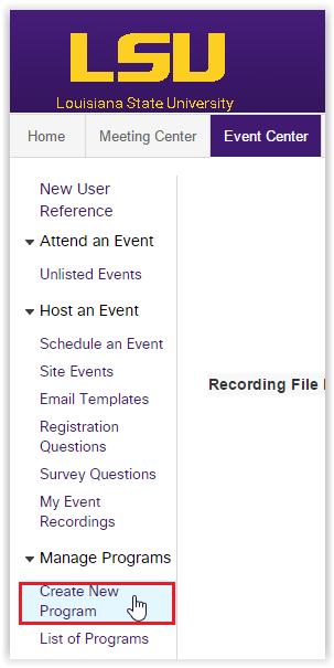 webex event center create a new program grok knowledge base