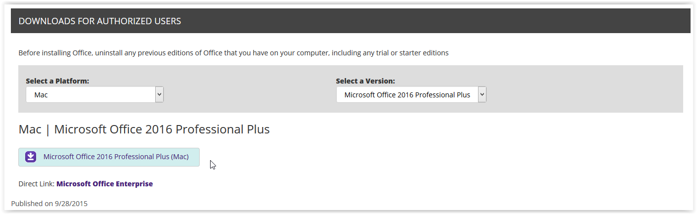 Office 2016 (Mac): Installation Instructions - GROK Knowledge Base