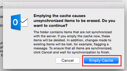 how to clear email cache mac
