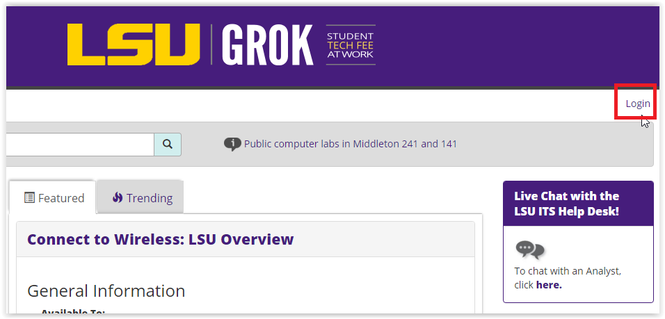 GROK login button at the top right corner of the page.