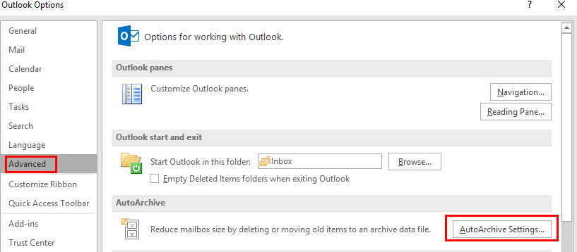 how to open outlook archive without outlook
