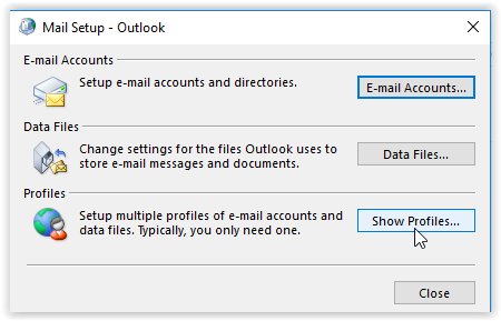 Mail setup for outlook