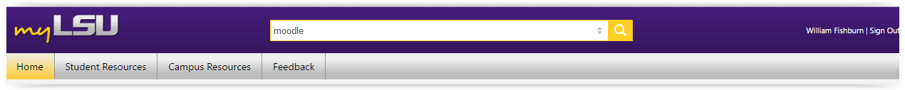 myLSU search bar