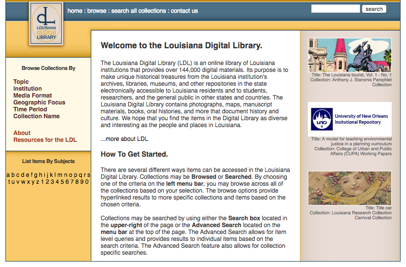 LOUISiana Digital Library