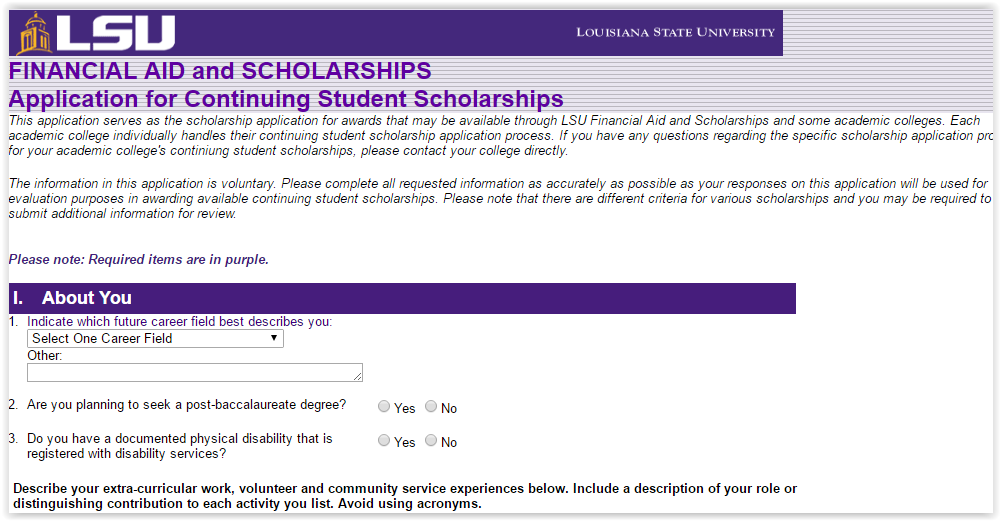PAWS Scholarship Application