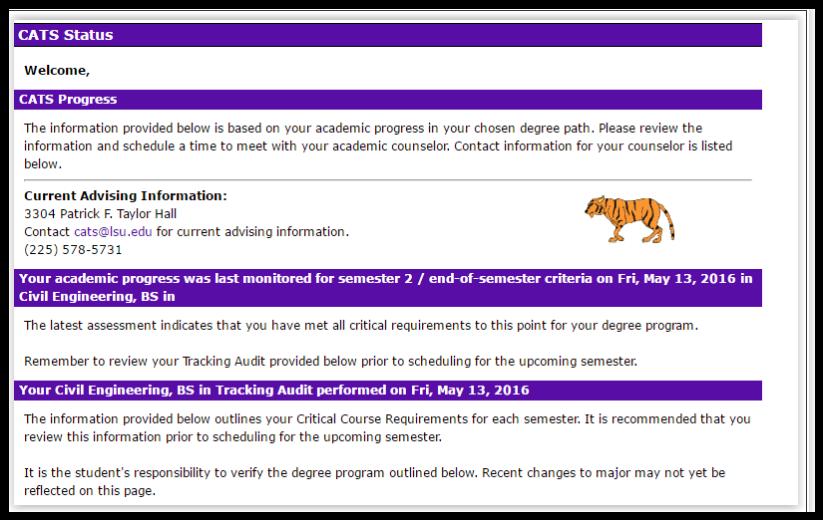 myLSU Portal: CATS Status - GROK Knowledge Base