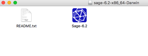 The Sage files in the folder in mac