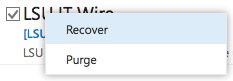Recover E-mail option