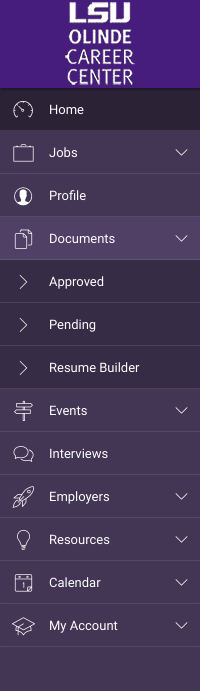 Approved option on the Documents tab on the left hand side menu