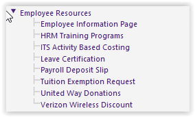 myLSU Portal Employee Resources expanded with HRM Training Programs highlighted