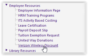 Verizon Wireless Discount option