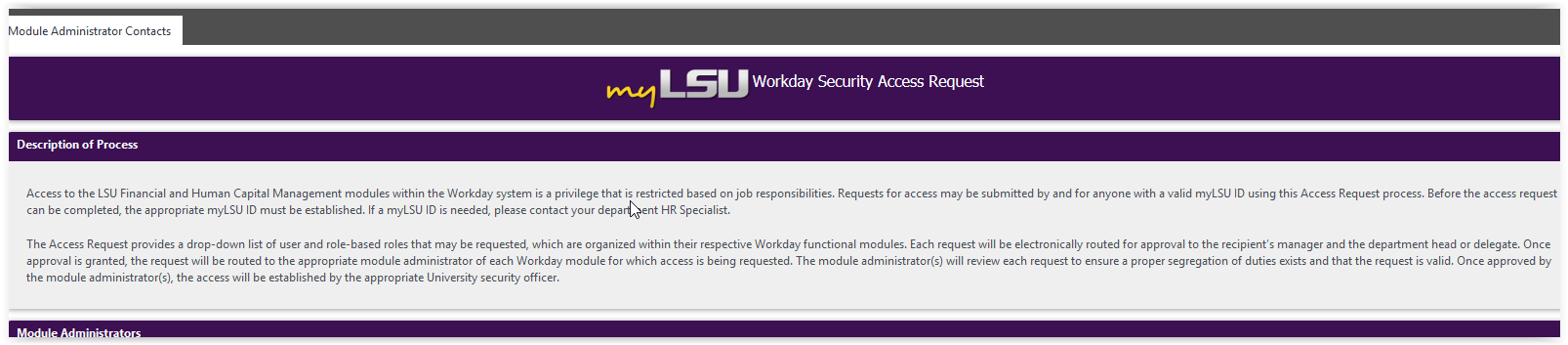 myLSU Portal: Workday Security Access Request - GROK Knowledge Base