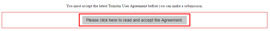 "Agreement notification with the ""please read and accept"" button underneath"