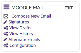 Moodle Mail block