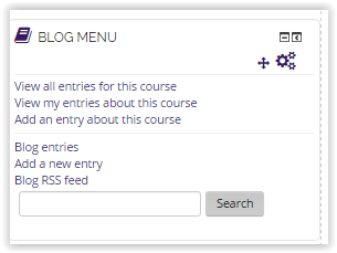 The Blog menu block