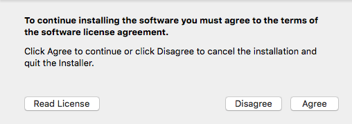 Agree/Disagree prompt window
